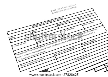 blank application employment stock photo edit now 27828625