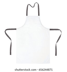 Blank apron isolated on white background