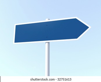 blank arrow road sign - more variations of this picture in portfolio