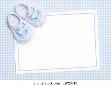 Blank baby shower invite