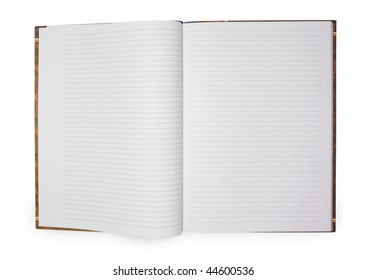 blank background. paper notebook isolated on white