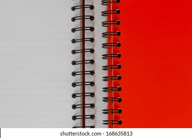blank background. paper spiral notebook