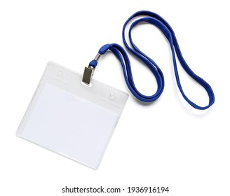 Badge blanc sur fond blanc