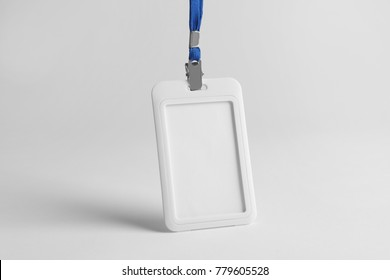 Blank badge on white background. Mockup for design