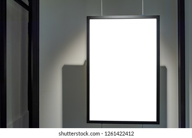 blank banner display,sale and discount promotion information,poster mock up template