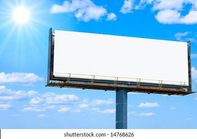 """blank banner for your ad and the sun   -  of """"Blank Billboards"""" series in my portfolio"""