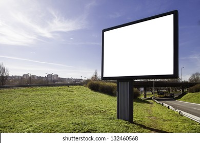 Blank bilboard with clipping path