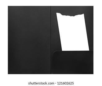 Blank bill receipt in envelope