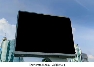 Blank billboard for advertisement.billboard blank for outdoor advertising poster