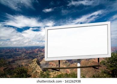 Blank billboard advertising sign at Grand Canyon National Park, Arizona