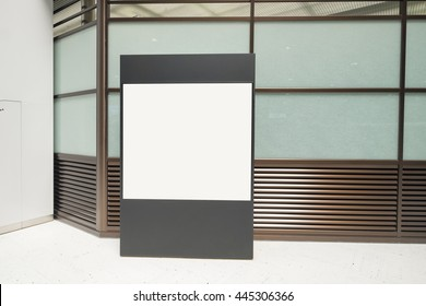 Blank Billboard in airport , great for your design, shot in asia, japan