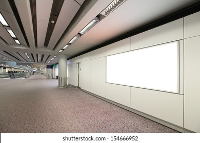 Blank Billboard in airport shot in asia, hong kong, great for your copy space