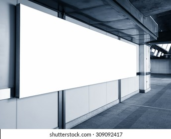 Blank Billboard Banner light box template display perspective in station