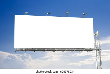 Blank billboard with blue sky