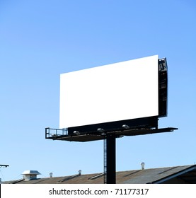 A Blank Billboard with a blue sky