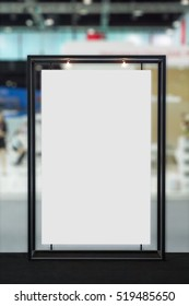 Blank billboard with blurred background.