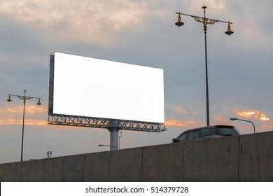 Blank billboard - can advertisement for display or montage product and business