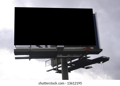 Blank billboard WITH clipping path