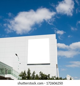 Blank billboard with copy space ready for design in the city.
