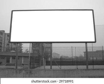 Blank billboard with copyspace