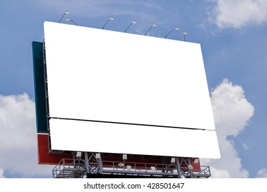 Blank billboard at day time for advertisement.