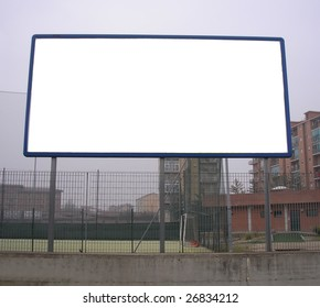 Blank billboard or hoarding with copyspace