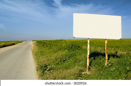 blank billboard in the middle of the country