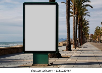 Blank billboard mock up outdoors, for advertisement