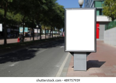 Blank billboard mockup in the street