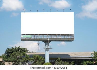 Blank Billboard Mockup Template in Bangkok, Thailand