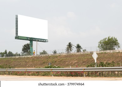 blank billboard near the road