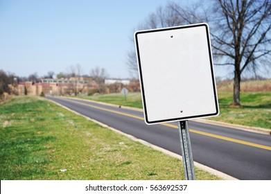 blank billboard near the road