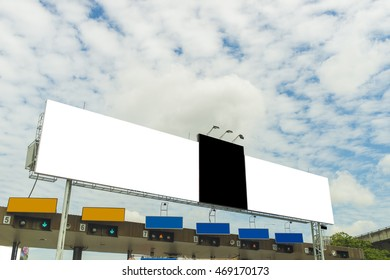 Blank billboard for new advertise