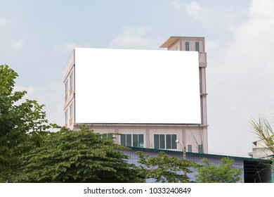 Blank billboard for new advertisement