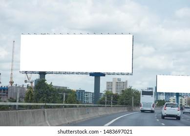 Blank billboard for new advertisement.