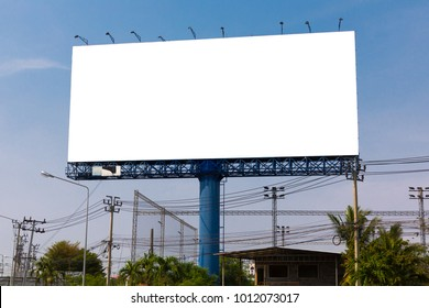Blank billboard for new adverttisement