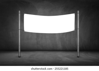 Blank billboard on a bus stop-clipping path of billboard included.