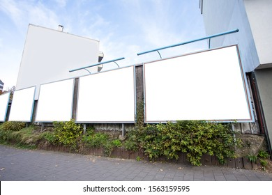 Blank billboard on day noon light.