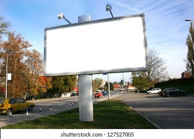 Blank Billboard On Field