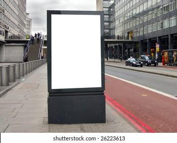 Blank billboard on the street
