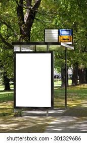 Blank billboard on a street