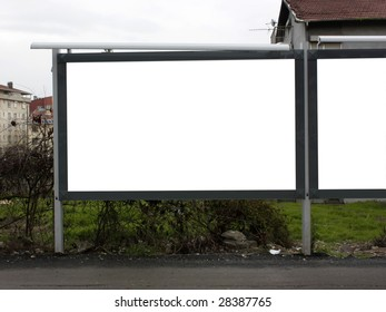 Blank Billboard One and Half - Including clipping path around blank area.