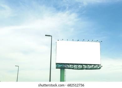 Blank Billboard outdoor  and blue sky
