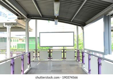 Blank billboard ready for advertisement
