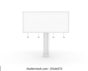 Blank billboard ready for branding.