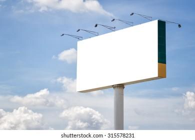 Blank billboard ready for new advertisement