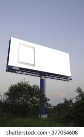 Blank billboard ready for new advertisement .Tablet with advertising