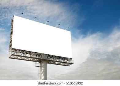 Blank billboard ready for new advertisement.