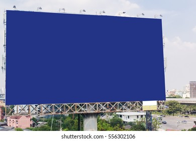 blank billboard or road sign on the highway, Useful for your advertisement.