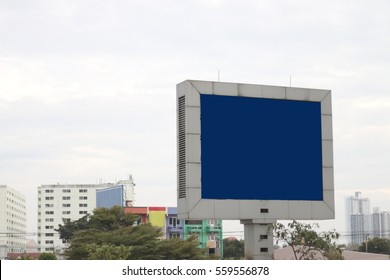 blank billboard or road sign on the highway, Useful for your advertisement